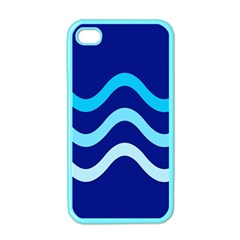 Blue Waves  Apple Iphone 4 Case (color) by Valentinaart