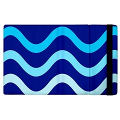 Blue Waves  Apple Ipad 2 Flip Case by Valentinaart