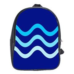 Blue Waves  School Bags (xl)  by Valentinaart