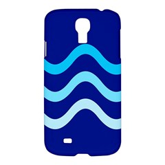 Blue Waves  Samsung Galaxy S4 I9500/i9505 Hardshell Case by Valentinaart