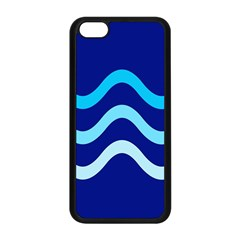 Blue Waves  Apple Iphone 5c Seamless Case (black) by Valentinaart