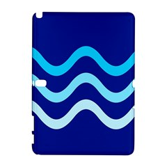 Blue Waves  Samsung Galaxy Note 10 1 (p600) Hardshell Case by Valentinaart
