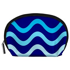 Blue Waves  Accessory Pouches (large)  by Valentinaart