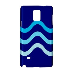 Blue Waves  Samsung Galaxy Note 4 Hardshell Case by Valentinaart