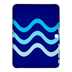 Blue Waves  Samsung Galaxy Tab 4 (10 1 ) Hardshell Case  by Valentinaart