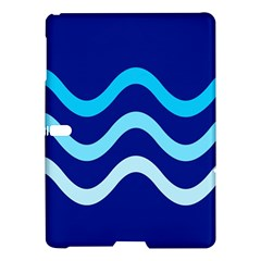Blue Waves  Samsung Galaxy Tab S (10 5 ) Hardshell Case  by Valentinaart