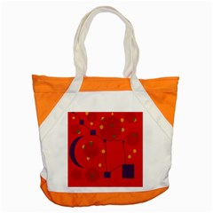 Red Abstract Sky Accent Tote Bag by Valentinaart