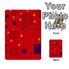 Red Abstract Sky Multi Purpose Cards (rectangle)