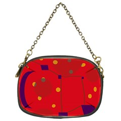Red Abstract Sky Chain Purses (one Side)  by Valentinaart