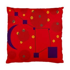 Red Abstract Sky Standard Cushion Case (one Side) by Valentinaart
