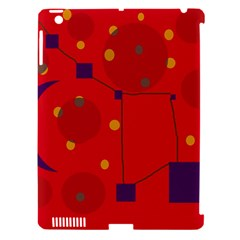 Red Abstract Sky Apple Ipad 3/4 Hardshell Case (compatible With Smart Cover) by Valentinaart