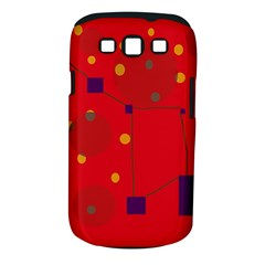 Red Abstract Sky Samsung Galaxy S Iii Classic Hardshell Case (pc+silicone) by Valentinaart