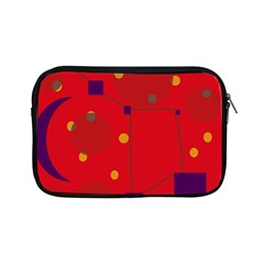 Red Abstract Sky Apple Ipad Mini Zipper Cases by Valentinaart