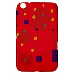 Red Abstract Sky Samsung Galaxy Tab 3 (8 ) T3100 Hardshell Case  by Valentinaart
