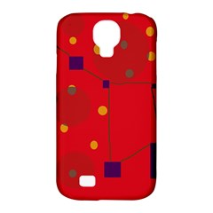 Red Abstract Sky Samsung Galaxy S4 Classic Hardshell Case (pc+silicone) by Valentinaart