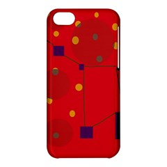Red Abstract Sky Apple Iphone 5c Hardshell Case by Valentinaart