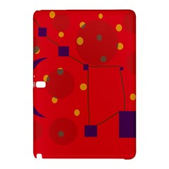 Red Abstract Sky Samsung Galaxy Tab Pro 12 2 Hardshell Case by Valentinaart