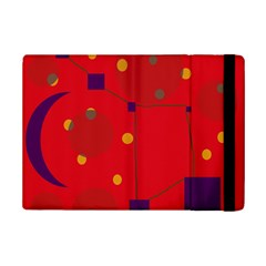 Red Abstract Sky Ipad Mini 2 Flip Cases by Valentinaart