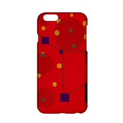 Red Abstract Sky Apple Iphone 6/6s Hardshell Case by Valentinaart