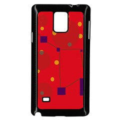 Red Abstract Sky Samsung Galaxy Note 4 Case (black) by Valentinaart