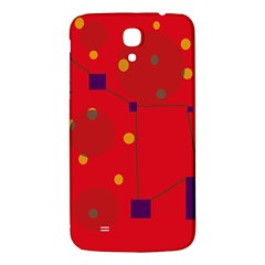 Red Abstract Sky Samsung Galaxy Mega I9200 Hardshell Back Case by Valentinaart