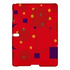 Red Abstract Sky Samsung Galaxy Tab S (10 5 ) Hardshell Case  by Valentinaart
