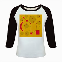 Yellow Abstract Sky Kids Baseball Jerseys by Valentinaart