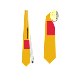 Yellow Abstract Sky Neckties (two Side)  by Valentinaart