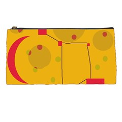 Yellow Abstract Sky Pencil Cases by Valentinaart