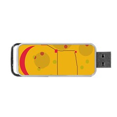 Yellow Abstract Sky Portable Usb Flash (one Side) by Valentinaart
