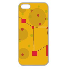 Yellow Abstract Sky Apple Seamless Iphone 5 Case (clear) by Valentinaart