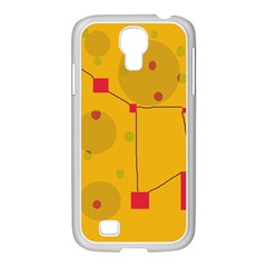 Yellow Abstract Sky Samsung Galaxy S4 I9500/ I9505 Case (white) by Valentinaart