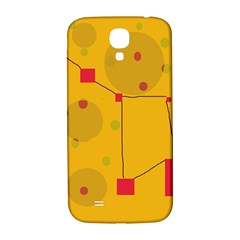 Yellow Abstract Sky Samsung Galaxy S4 I9500/i9505  Hardshell Back Case by Valentinaart