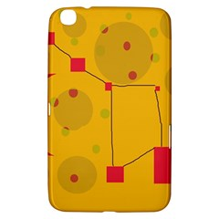 Yellow Abstract Sky Samsung Galaxy Tab 3 (8 ) T3100 Hardshell Case  by Valentinaart