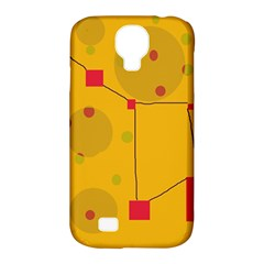 Yellow Abstract Sky Samsung Galaxy S4 Classic Hardshell Case (pc+silicone) by Valentinaart