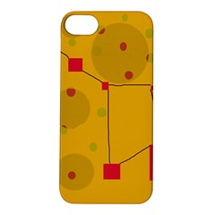 Yellow Abstract Sky Apple Iphone 5s/ Se Hardshell Case by Valentinaart