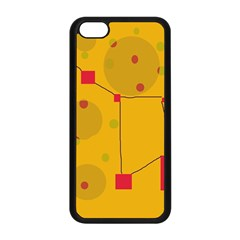 Yellow Abstract Sky Apple Iphone 5c Seamless Case (black) by Valentinaart