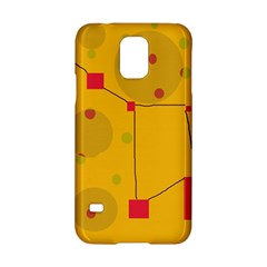 Yellow Abstract Sky Samsung Galaxy S5 Hardshell Case  by Valentinaart