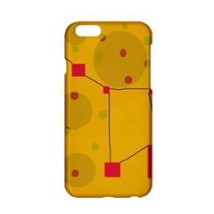 Yellow Abstract Sky Apple Iphone 6/6s Hardshell Case by Valentinaart