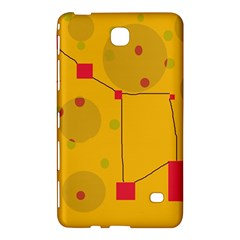 Yellow Abstract Sky Samsung Galaxy Tab 4 (7 ) Hardshell Case  by Valentinaart