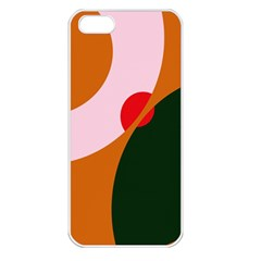 Decorative Abstraction  Apple Iphone 5 Seamless Case (white) by Valentinaart