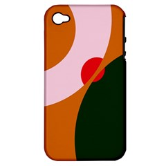 Decorative Abstraction  Apple Iphone 4/4s Hardshell Case (pc+silicone) by Valentinaart