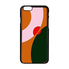 Decorative Abstraction  Apple Iphone 6/6s Black Enamel Case by Valentinaart
