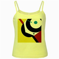 Digital Abstraction Yellow Spaghetti Tank by Valentinaart