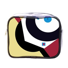 Digital Abstraction Mini Toiletries Bags by Valentinaart