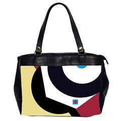 Digital Abstraction Office Handbags (2 Sides)  by Valentinaart