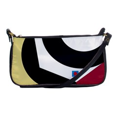 Digital Abstraction Shoulder Clutch Bags by Valentinaart