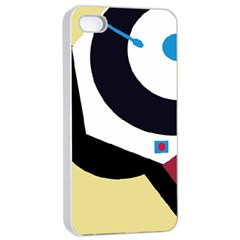 Digital Abstraction Apple Iphone 4/4s Seamless Case (white) by Valentinaart