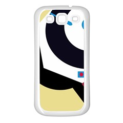 Digital Abstraction Samsung Galaxy S3 Back Case (white) by Valentinaart