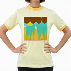 Abstract Landscape  Women s Fitted Ringer T Shirts by Valentinaart
